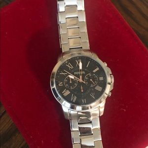 Two tone men's Fossil watch